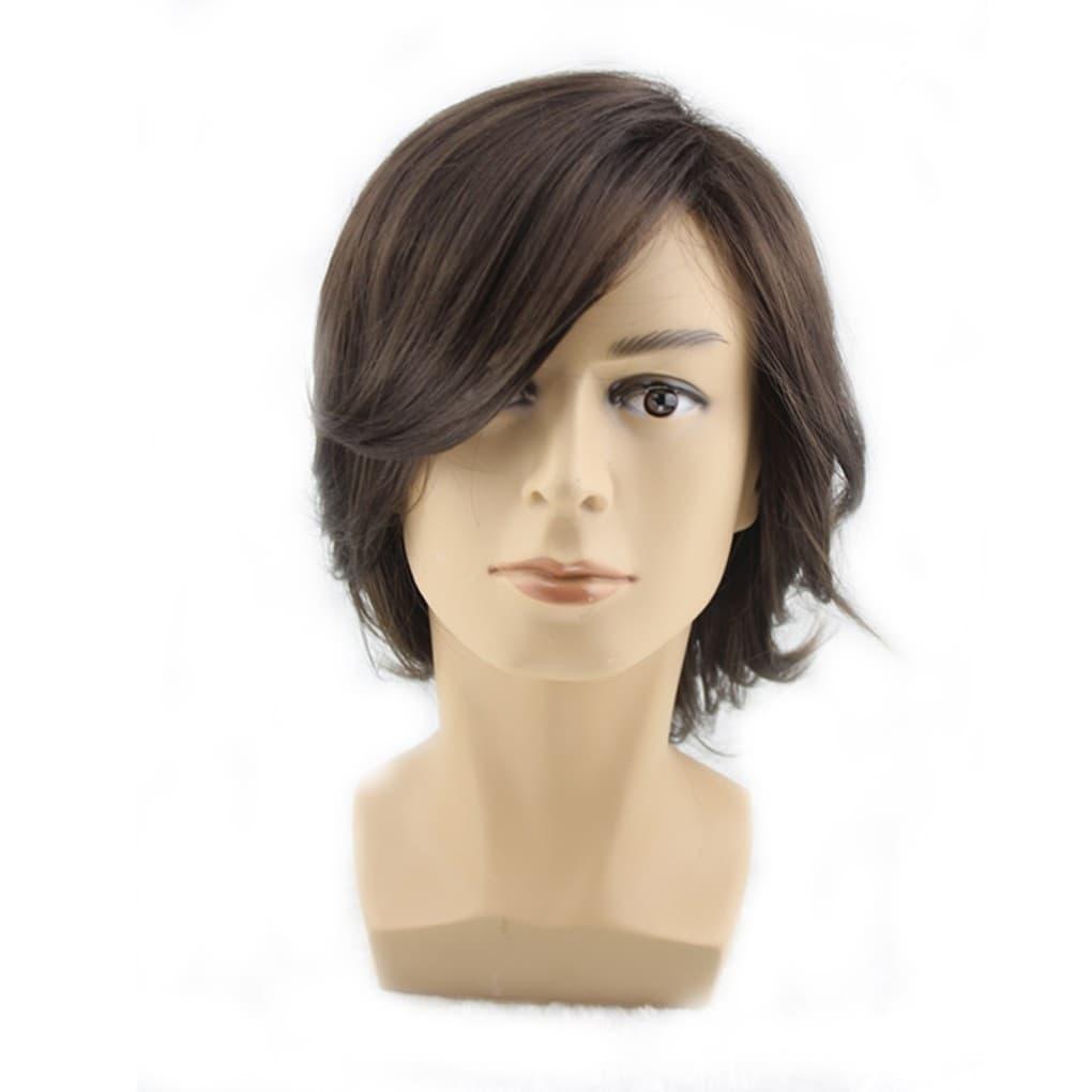 Wig Rambut Pria panjang medium 100% produk import thumbnail