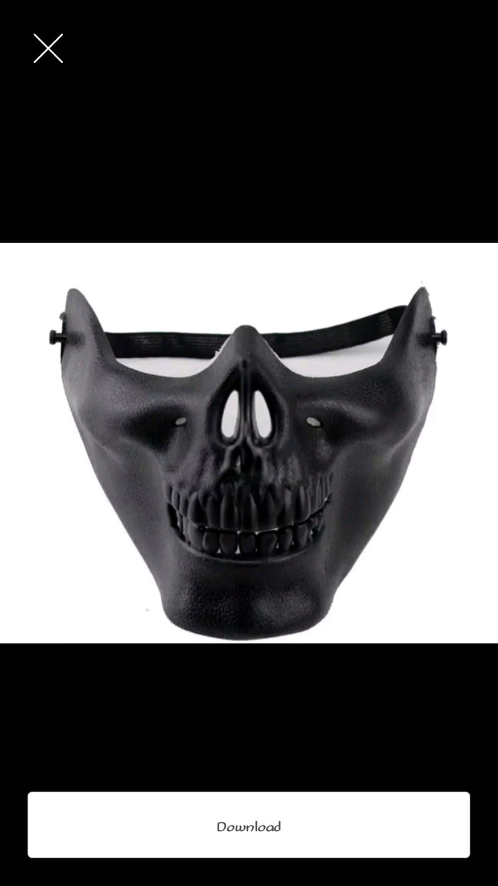 BELI topeng setengah muka only black dan silver Diskon 0055c8c1fa