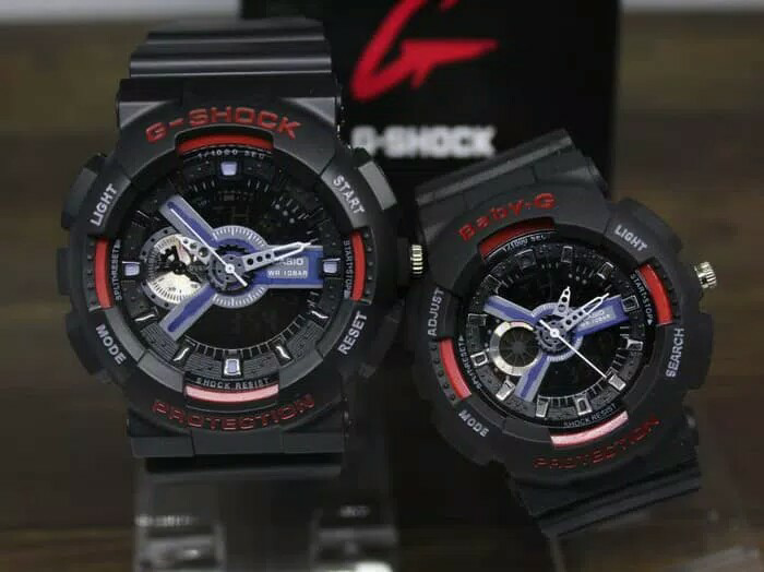 Jual JAM TANGAN COUPLE G-SHOCK GA110 BABY-G BLACK LIST RED SUPER ... 77be3dd361