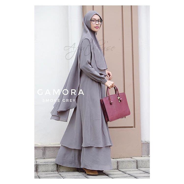 Gamis Baju Wanita Muslim Gamora Syar'i - Blanja.com