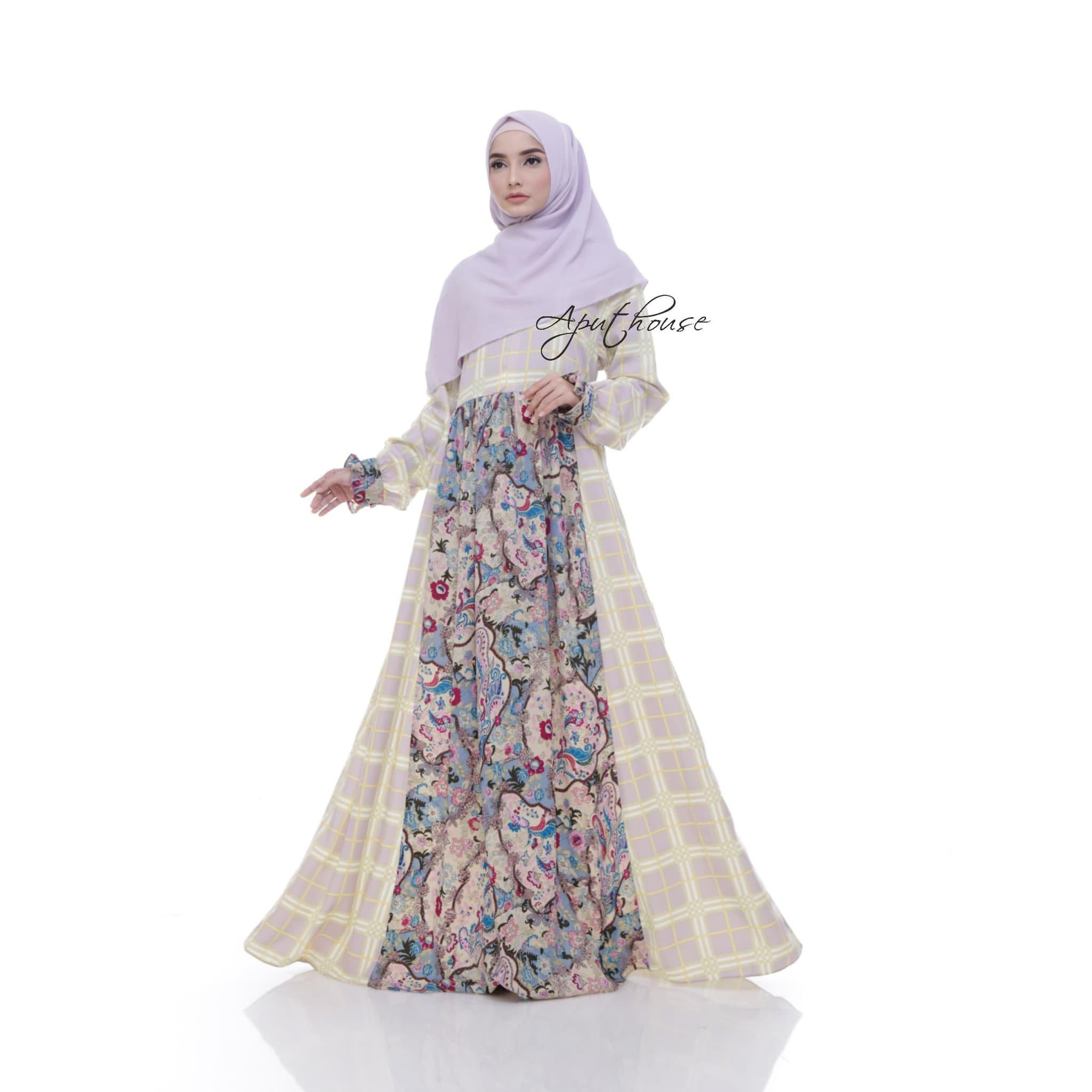 Gamis Baju Wanita Muslim Camila Etnik - Blanja.com