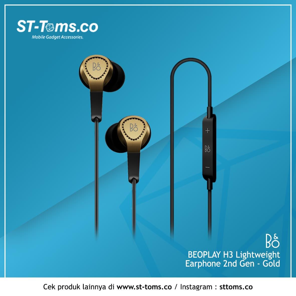 Jual Bang Olufsen Beoplay H3 Lightweight Earphone 2nd Gen Gold Ampamp Black St Toms Store Tokopedia