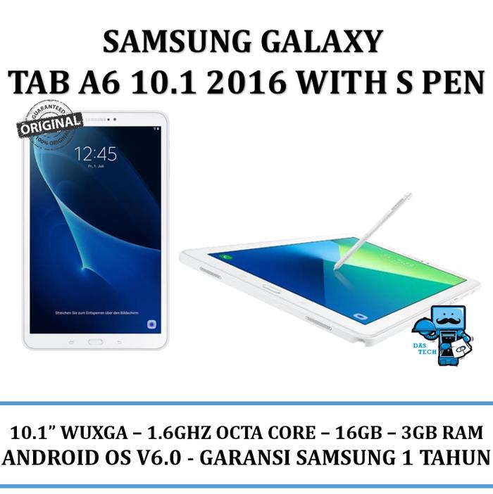 Samsung Galaxy Tab A6 10.1 2016 with S Pen