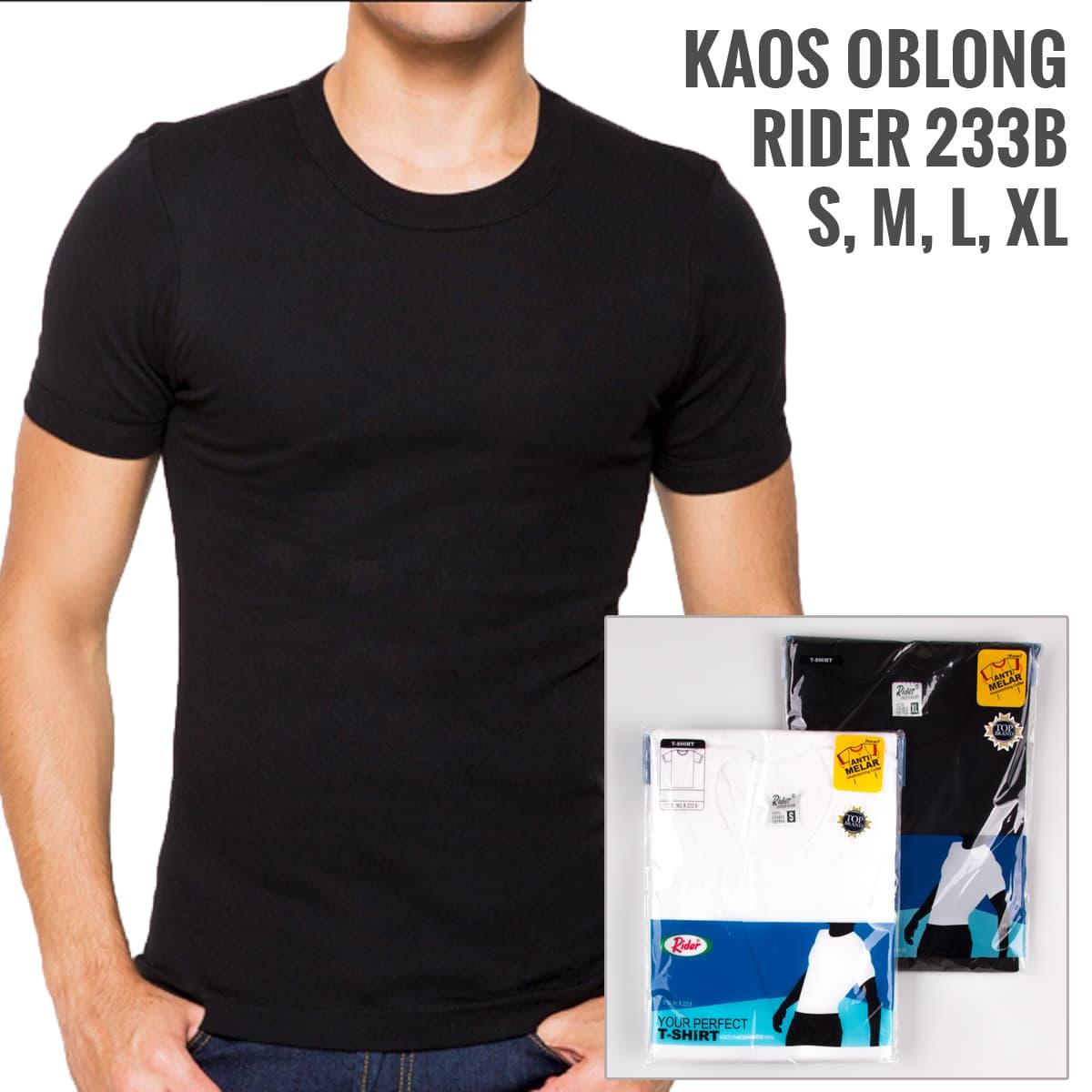 Kaos Dalam Rider 223b / Pakaian Dalam Pria / Men Round Neck Tshirt - Blanja.com