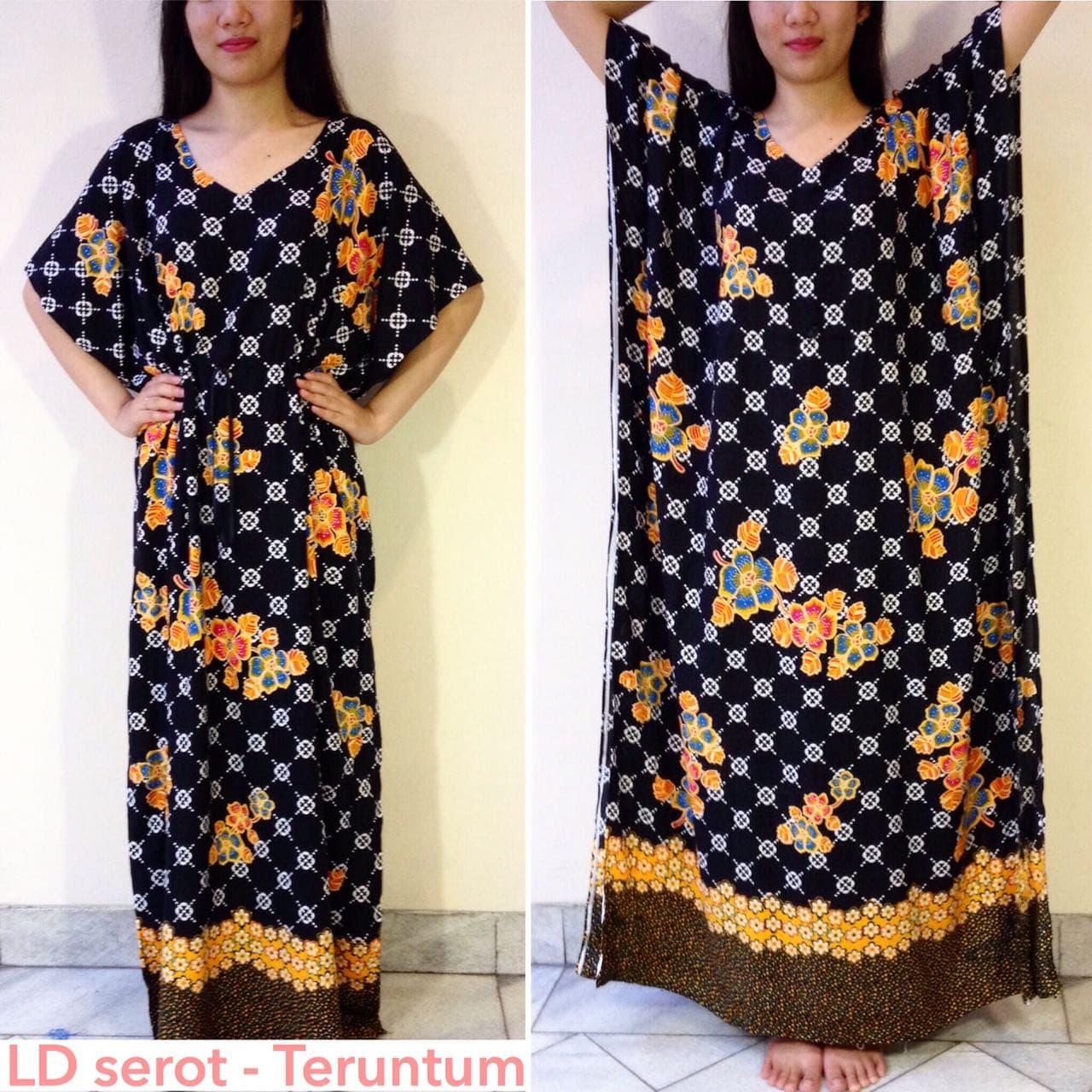 Batik Hengky - LD serot Teruntum - Baju Tidur Wanita Dress Daster
