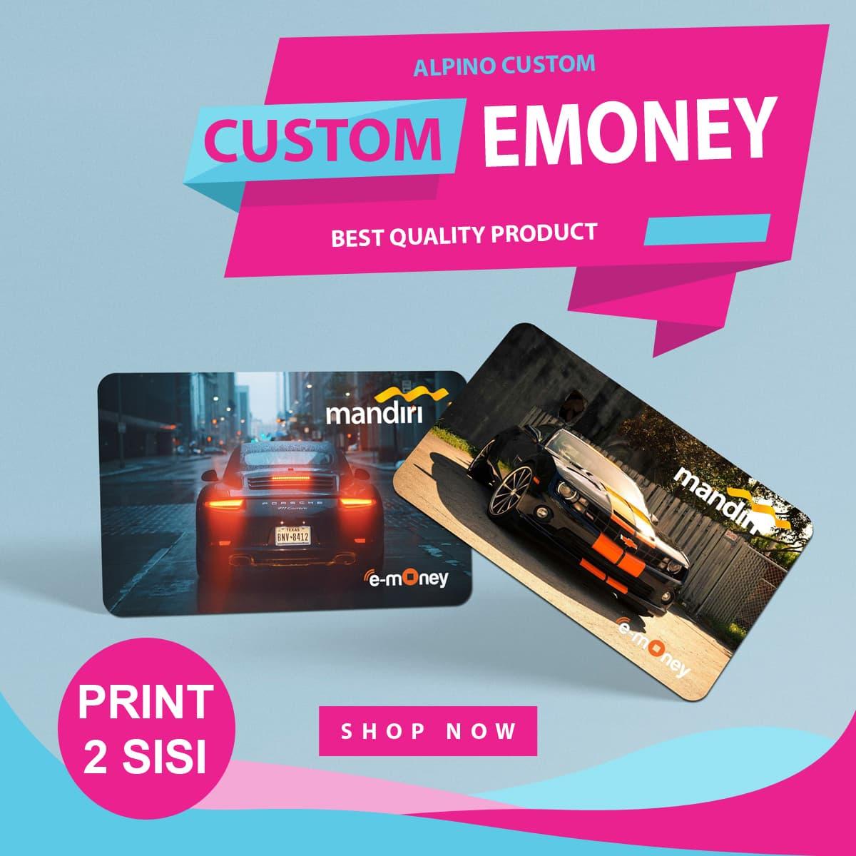 Jual Custom Card E Money Toll Alpinocustom Tokopedia Emoney Mandiri Cetak Dua Sisi