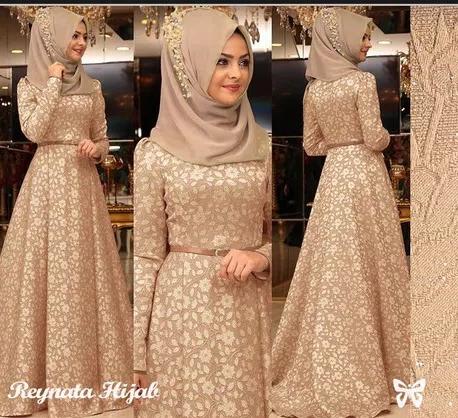 Jual Baju Muslim Muslimah Maxi Dress Maxy Gaun Gamis Mewah Elegan Seragam Kota Tangerang Boutique Preloved Tokopedia
