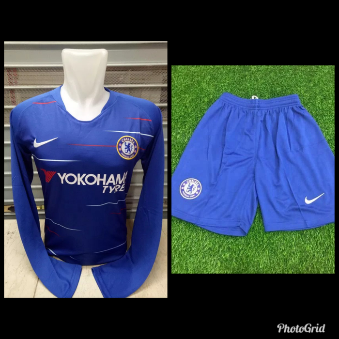 Setelan Bola Jersey Celana Chelsea Home 2018/19 Grade ORI GO