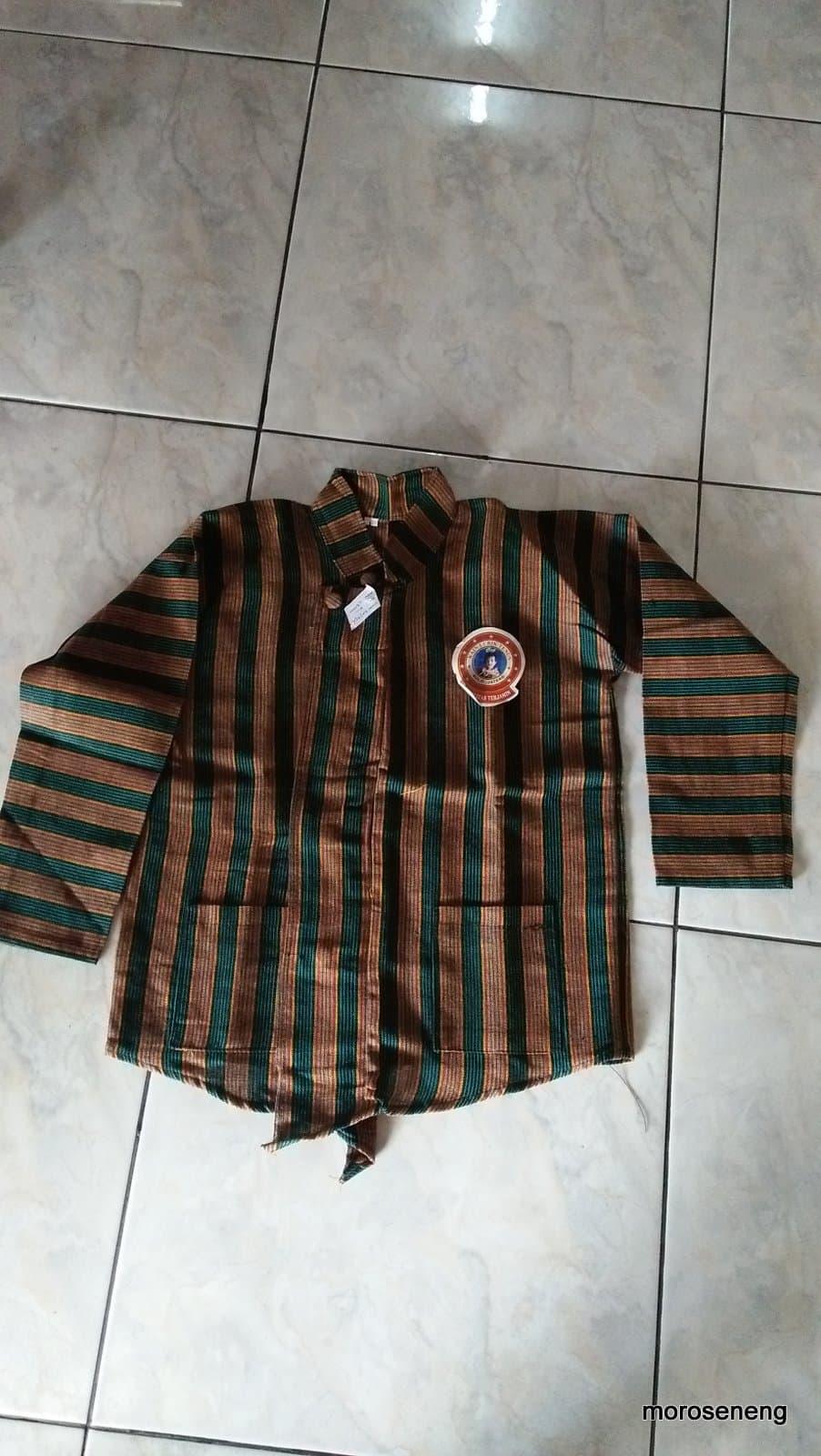 MURAH baju kemeja atasan lengan panjang tradisional jawa surjan lurik anak