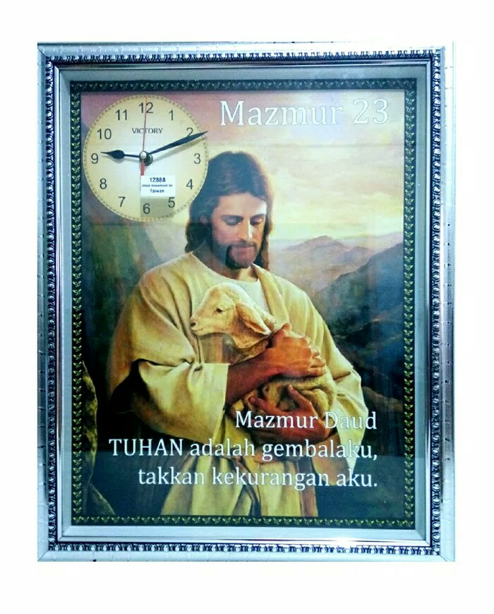 Jual JAM DINDING YESUS KRISTUS GAMBAR KEPALA ANAK DOMBA BISA GOYANG2 ... 0862a6d3b9