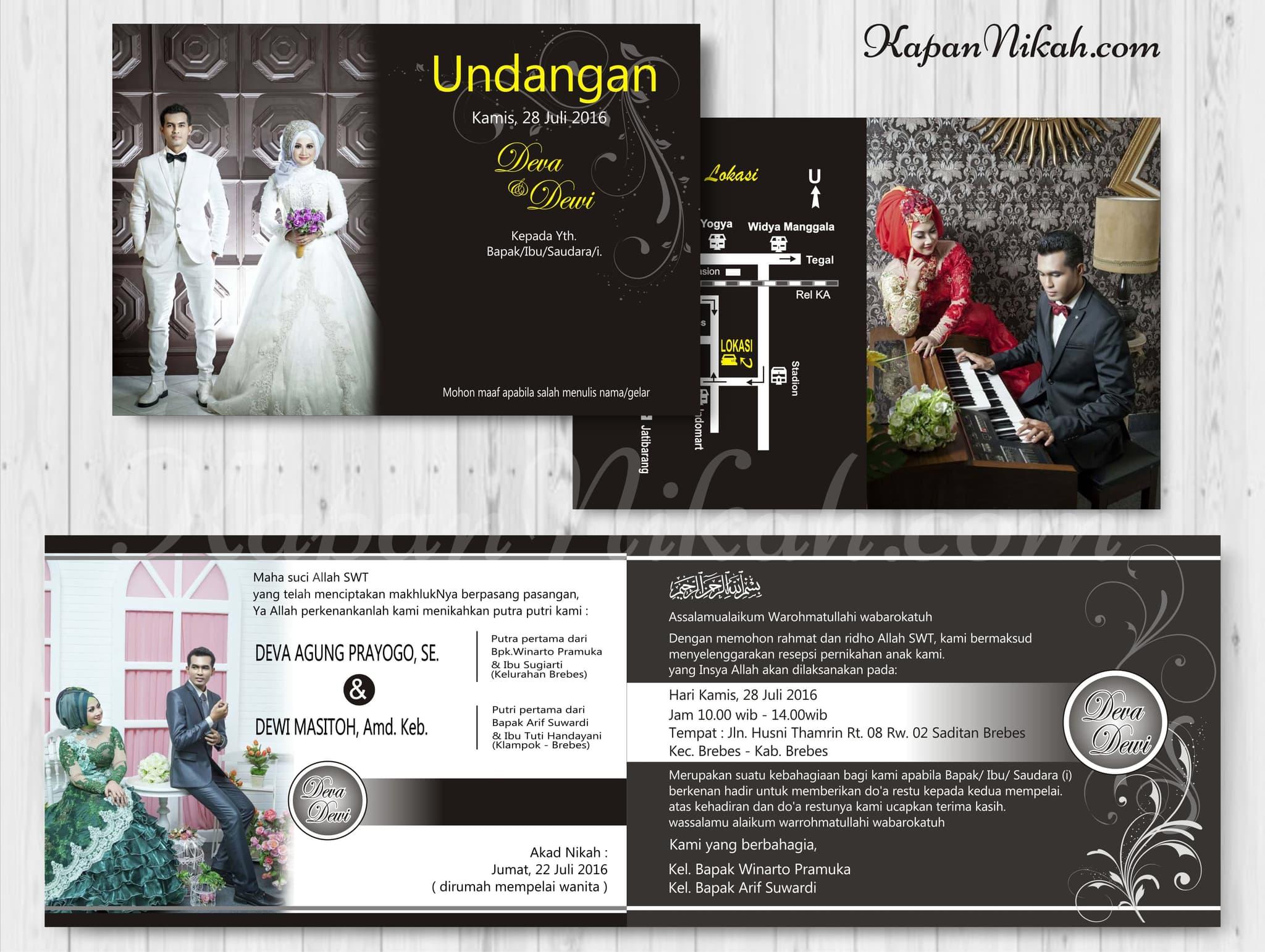 Jual Kartu Undangan Pernikahan Khitanan Rasev Cloth Ucapan Terima Kasih Kupon Souvenir 28 Tokopedia