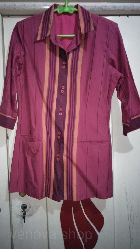 Jual Baju Atasan Wanita Kemeja Kerja Batik Lurik Maroon Kota Surabaya Venova Shop Tokopedia