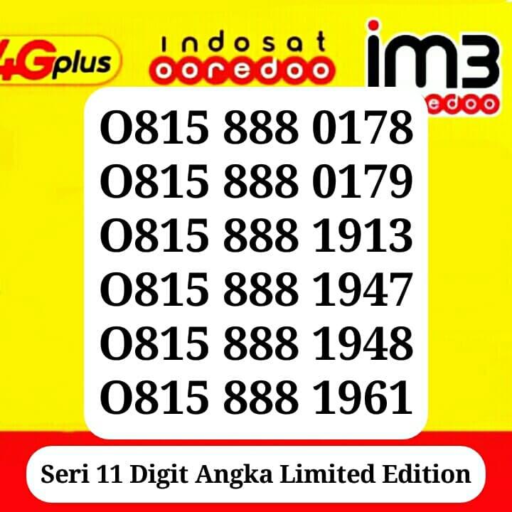 Jual Nomor Cantik Kartu Perdana Indosat Im3 Ooredoo 4g LTE Unik Rapih Murah - Singapore Cell