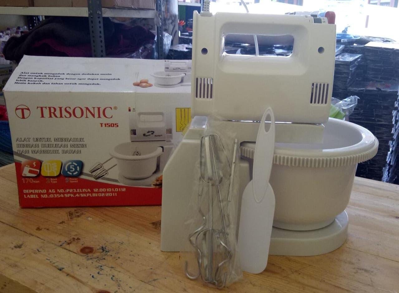 Jual Handmixer Trisonic Toko Rafli Online Tokopedia Stand Mixer Com T 1505 Putih