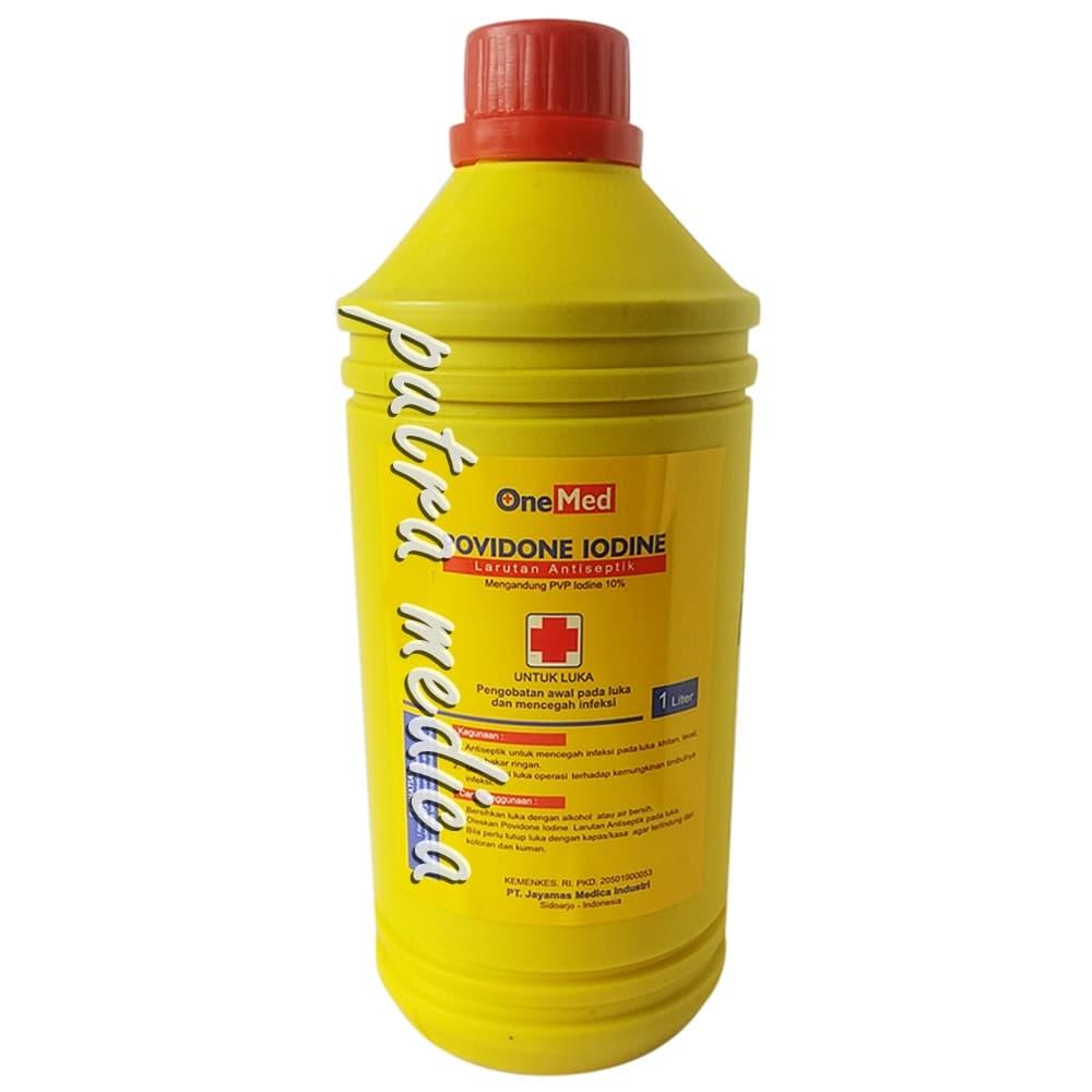 Jual Onemed Povidone Iodine / Obat Merah 10% - 1lt - Putra-Medica |