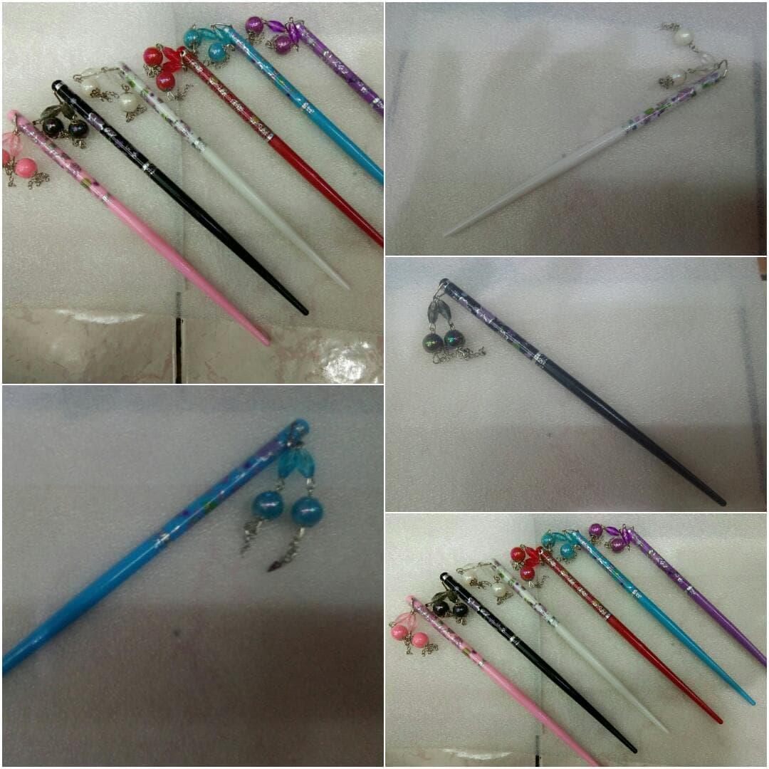 Tusuk Konde Import Jepang Style Hair Sticks - Ungu thumbnail