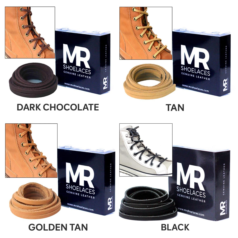 Jual Tali Kulit 120cm Variasi Warna Untuk Sepatu Boots Leather Chocolate Shoelaces