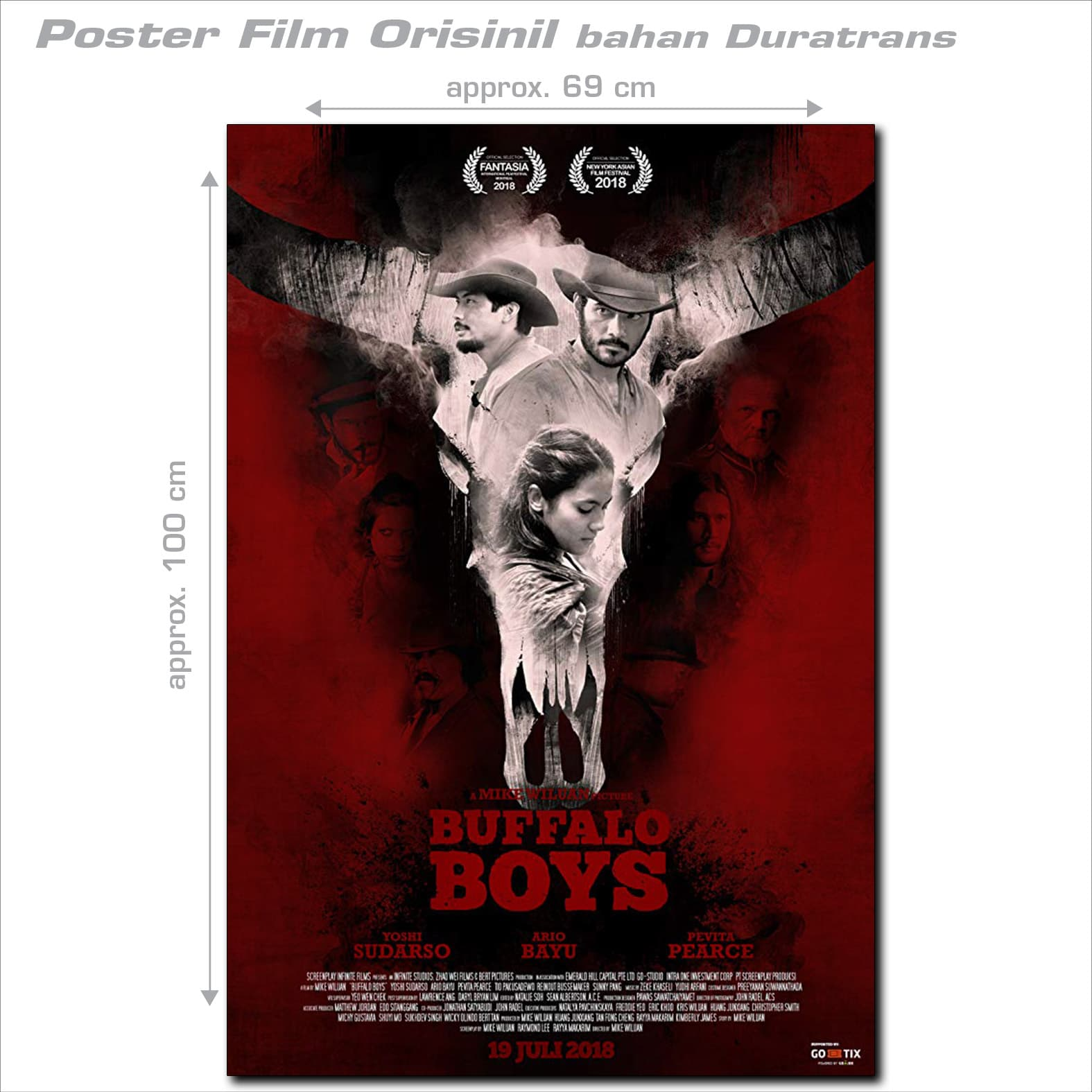 Jual Poster Film BUFFALO BOYS - orig  Ind  1sh style A