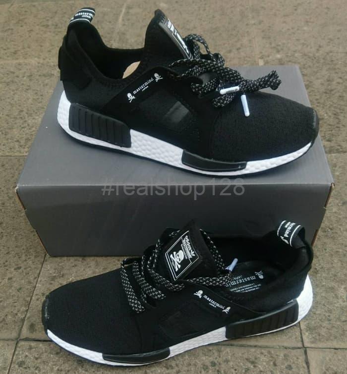 72bba2619 DISKON Sepatu Adidas NMD XR1 Mastermind Japan Black White Premium Qua