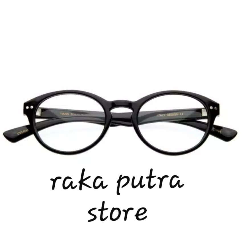 Jual Optical Oval Clear Lens Glasses 1305 L - Kacamata Wanita - Raka Putra Store |