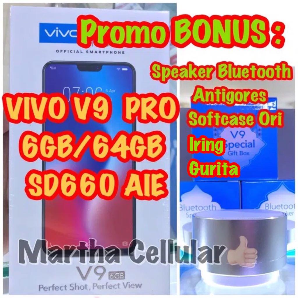 Jual Vivo V9 Ram 6gb Merah Martha Cellular Tokopedia Speaker Bluetooth Ori