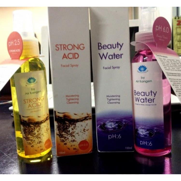 "Jual 1 Paket (Beauty Spray +Strong Acid) ""Kangen Water"" Kemasan 100 ml - Fellicia Store | Tokopedia"