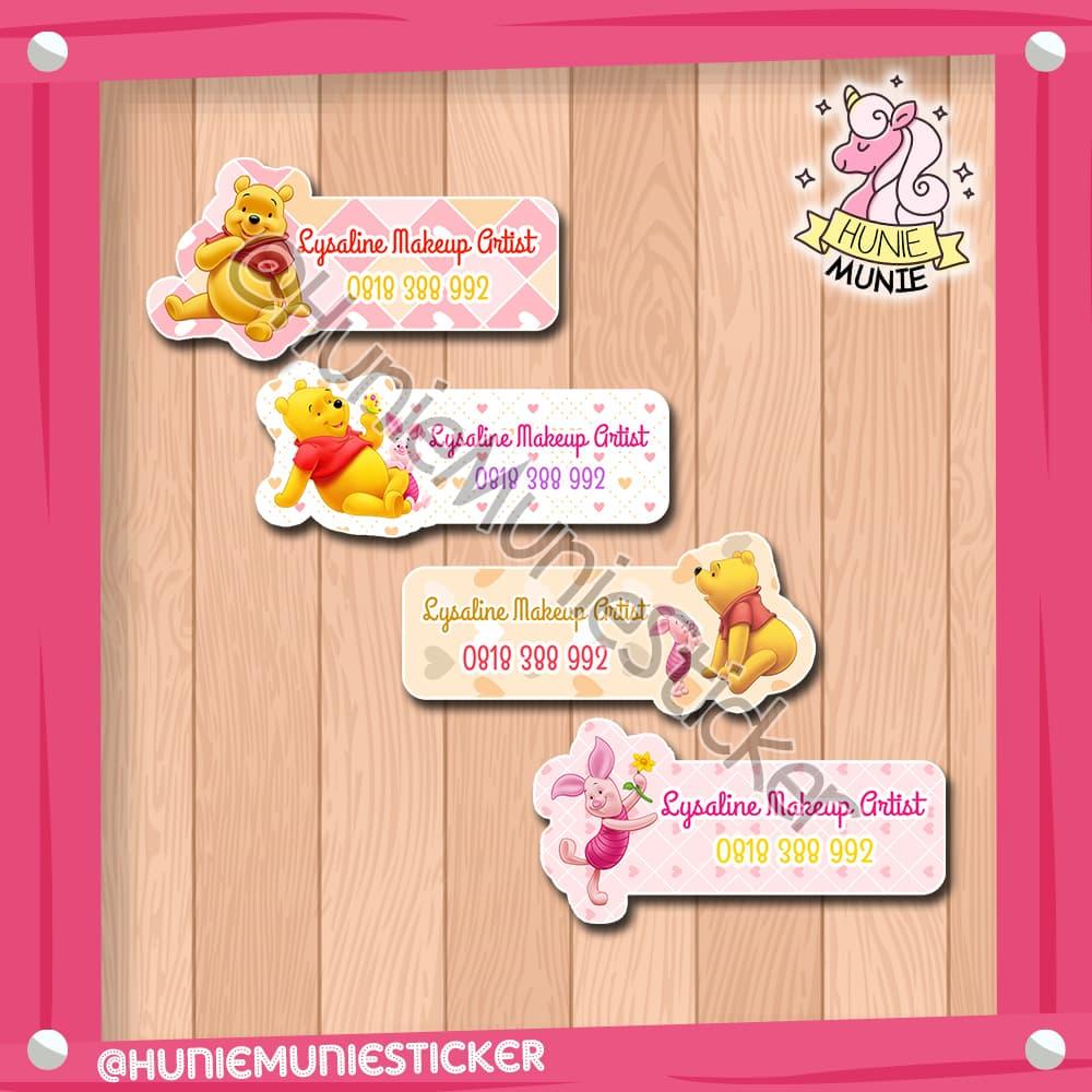 Jual sticker nama custom winnie the pooh friends 1 100pcs hunie munie sticker tokopedia