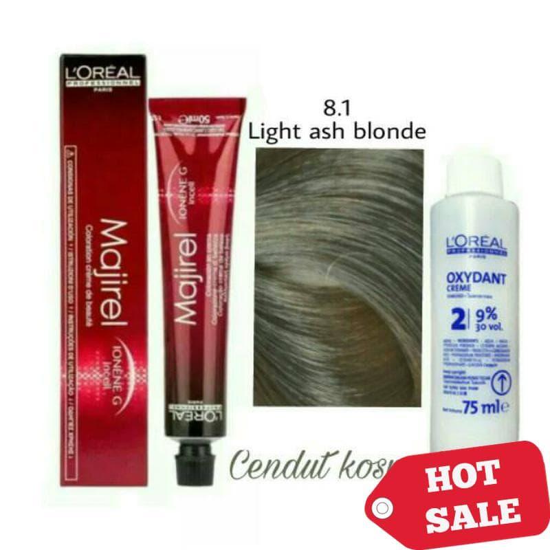 PENAWARAN LOREAL MAJIREL NO 8.1 Light ash blonde HAIR COLOR CAT RAMBUT  PEWARNA 7b90a1dea6