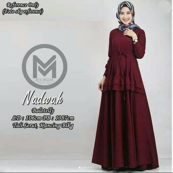Jual Baju Gamis Muslim Nadwah Dress Maxi Dress Simple Polos Ootd Murah Kab Bandung Amy Fashion Store Tokopedia
