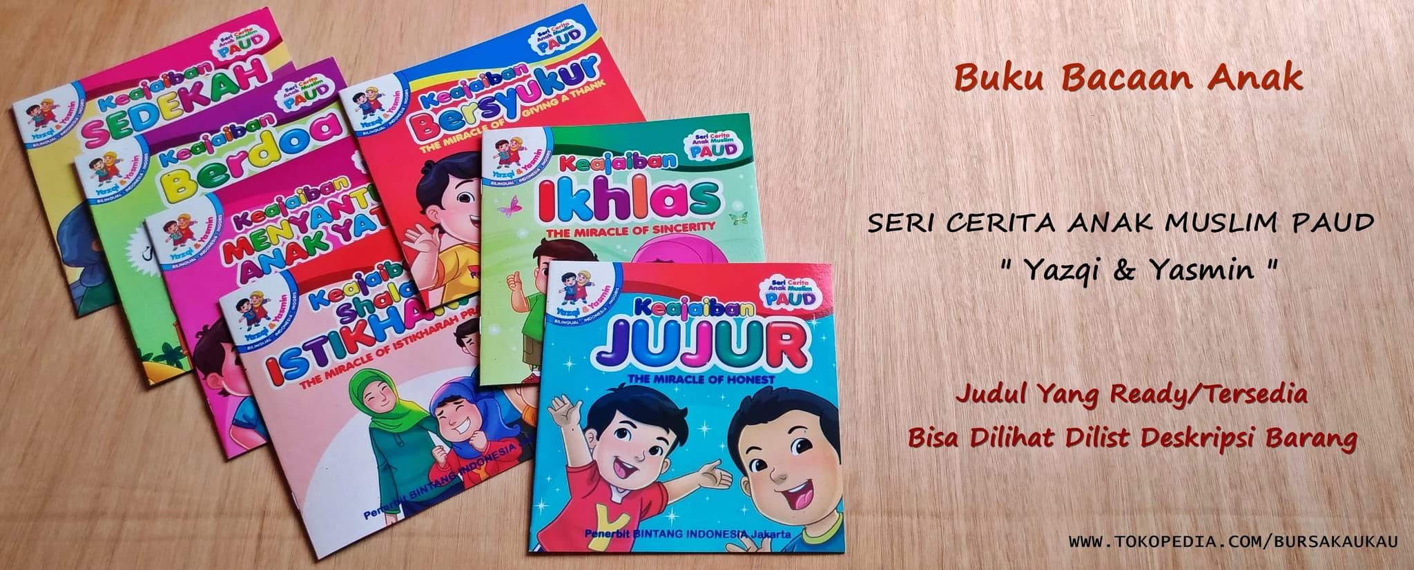 Jual Buku Cerita Dongeng Seri Cerita Anak Muslim Paud Yazqi