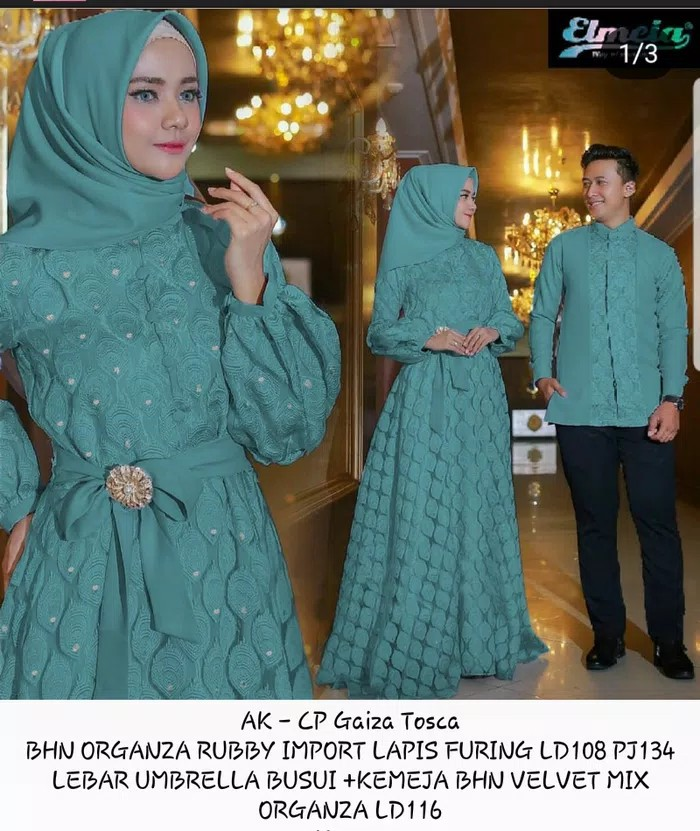 Jual Couple Baju Muslim Pesta Syari Maxi Dress Pria Wanita Kemeja Mewah Hem Kota Tangerang Boutique Preloved Tokopedia