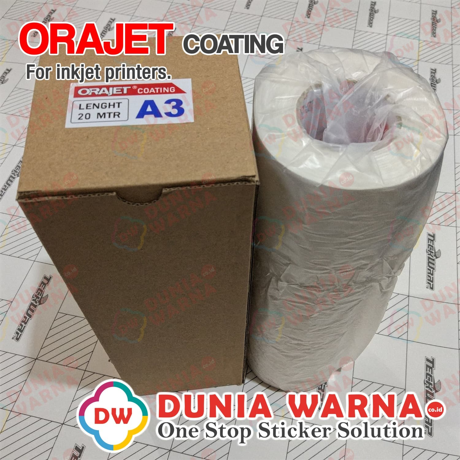 photo regarding Printable Sticker Vinyl identify Jual ORAJET Coating Vinyl Sticker Inkjet Printable WHITE