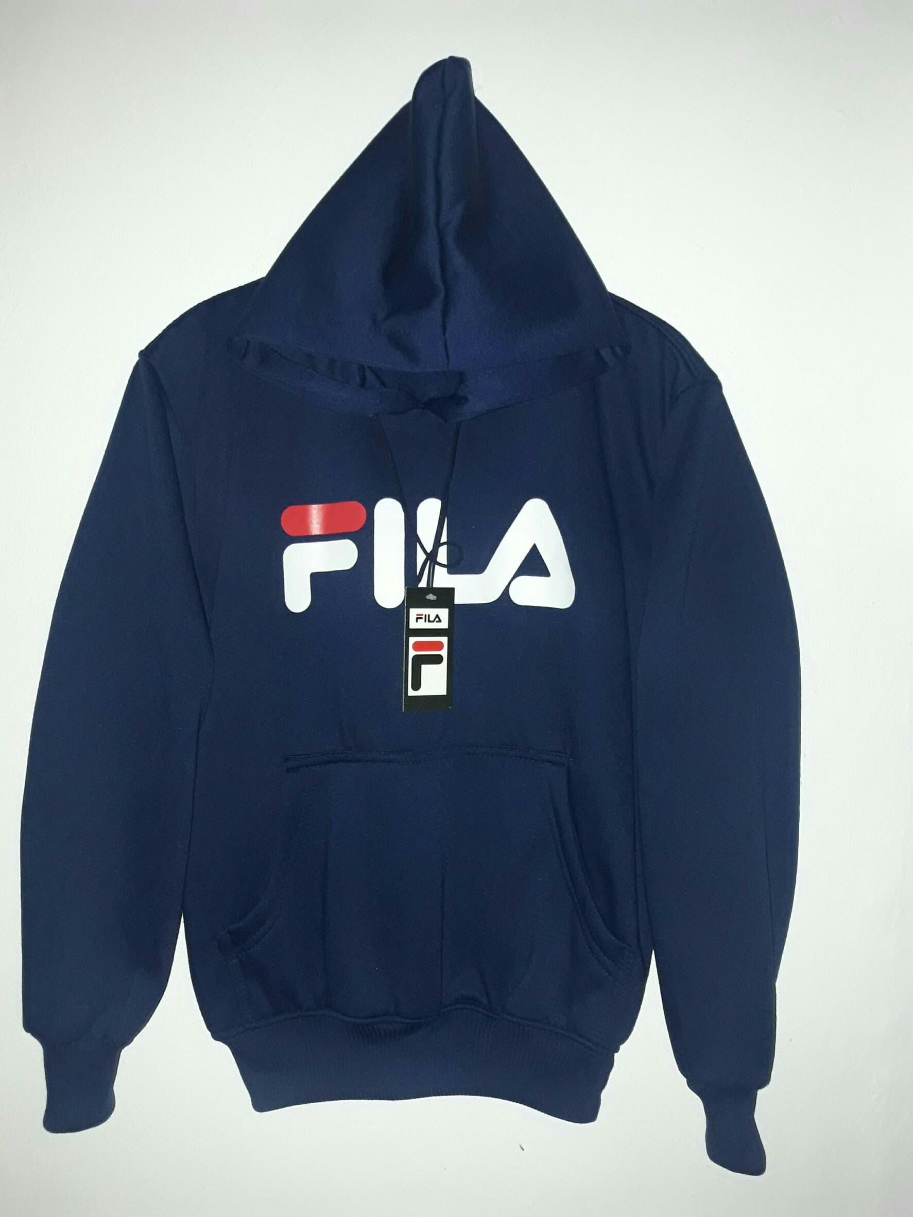 Jual jaket pria biru fila - sweater navy hoodie distro fila bandung ... 263356a042