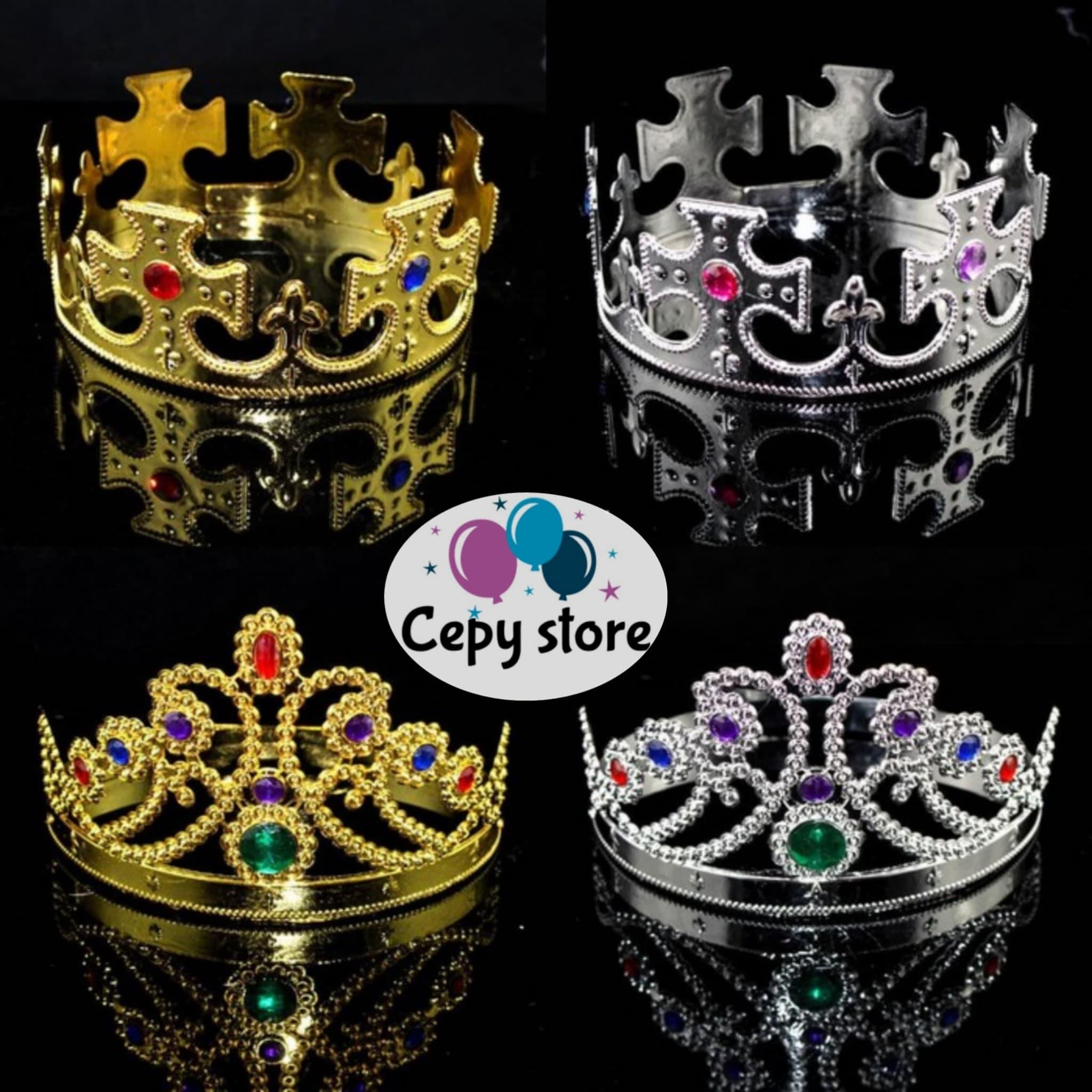 Mahkota Pesta Ratu, Crown Party King Queen ( Gold & Silver) thumbnail