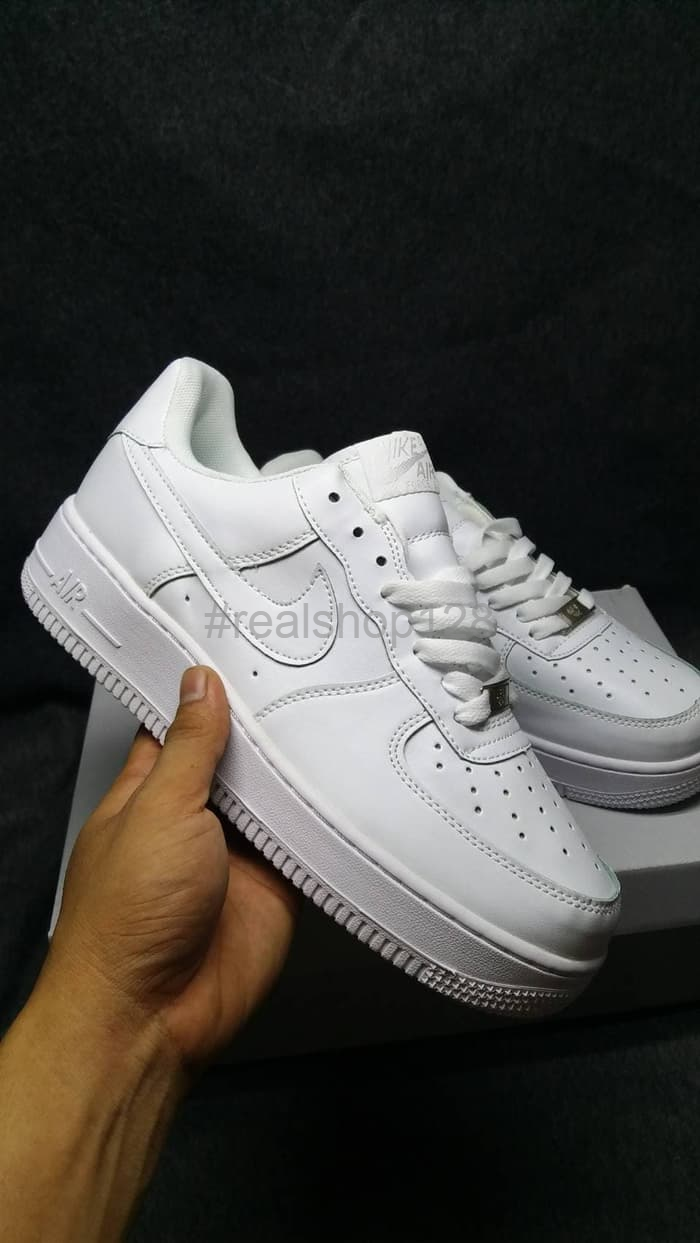 meilleur site web fa6f0 ff81b Jual Promo Nike Air Force one 1 low all White Premium Original -  Realshop128 | Tokopedia