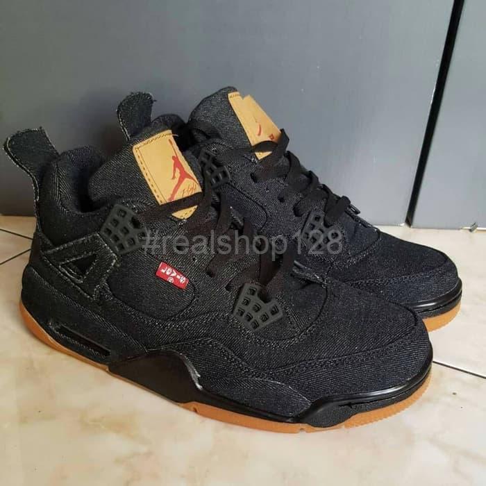 brand new 34a7b fd29a Jual Promo sepatu Nike Air Jordan Retro 4 X Levis Denim Black gum Basket -  Jakarta Barat - Realshop128 | Tokopedia