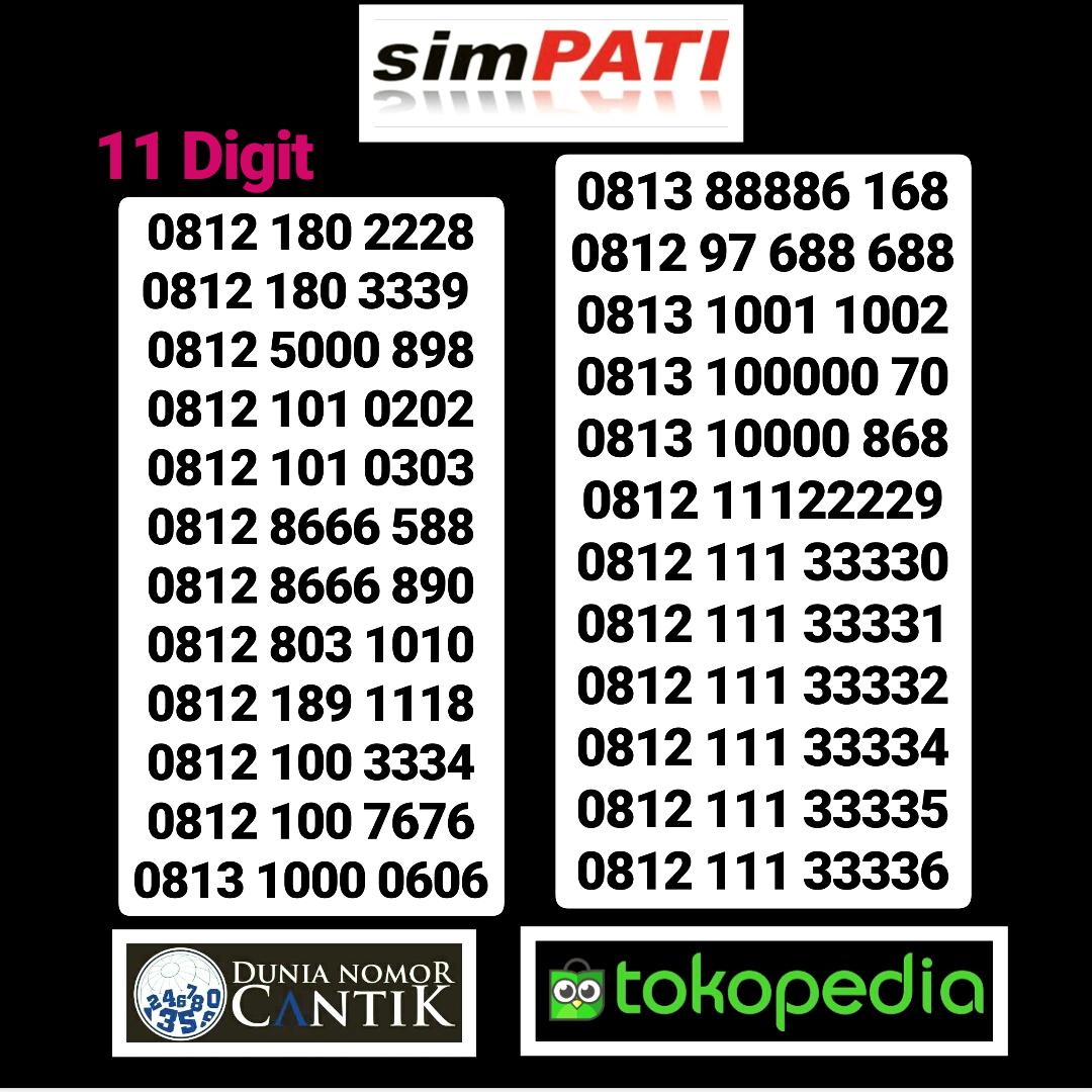 Jual Kartu Perdana Telkomsel Simpati Cantik - Nomor Cantik 89 | Tokopedia
