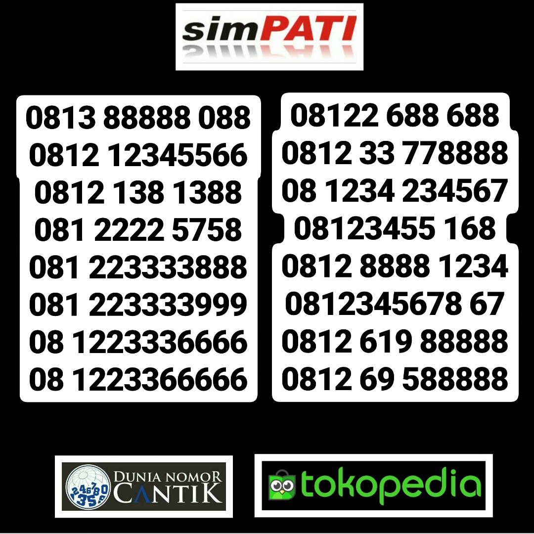 Jual Kartu Perdana Simpati Nomor Cantik Telkomsel Simpati - Dunia ... - 3405099_cd510e92-7c90-4769-8446-6aaa39b50d92_1080_1080.jpg