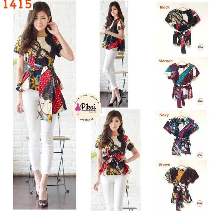 Baju Original Bc Polo Gird Tunik Blouse Atasan Blus Modern Baju ... ff5b858495
