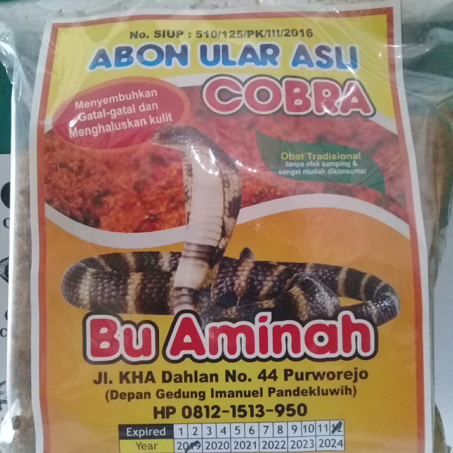 Promo Harga Minyak Ular Cobra Ibu Aminah Termurah 2018 Asli Jual Abon Menyembuhkan Gatal Kulit Tokopedia