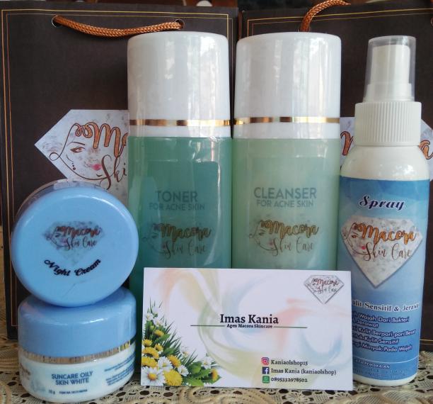 Macora Skincare Acne Glowing + Spray (Paket Lengkap)
