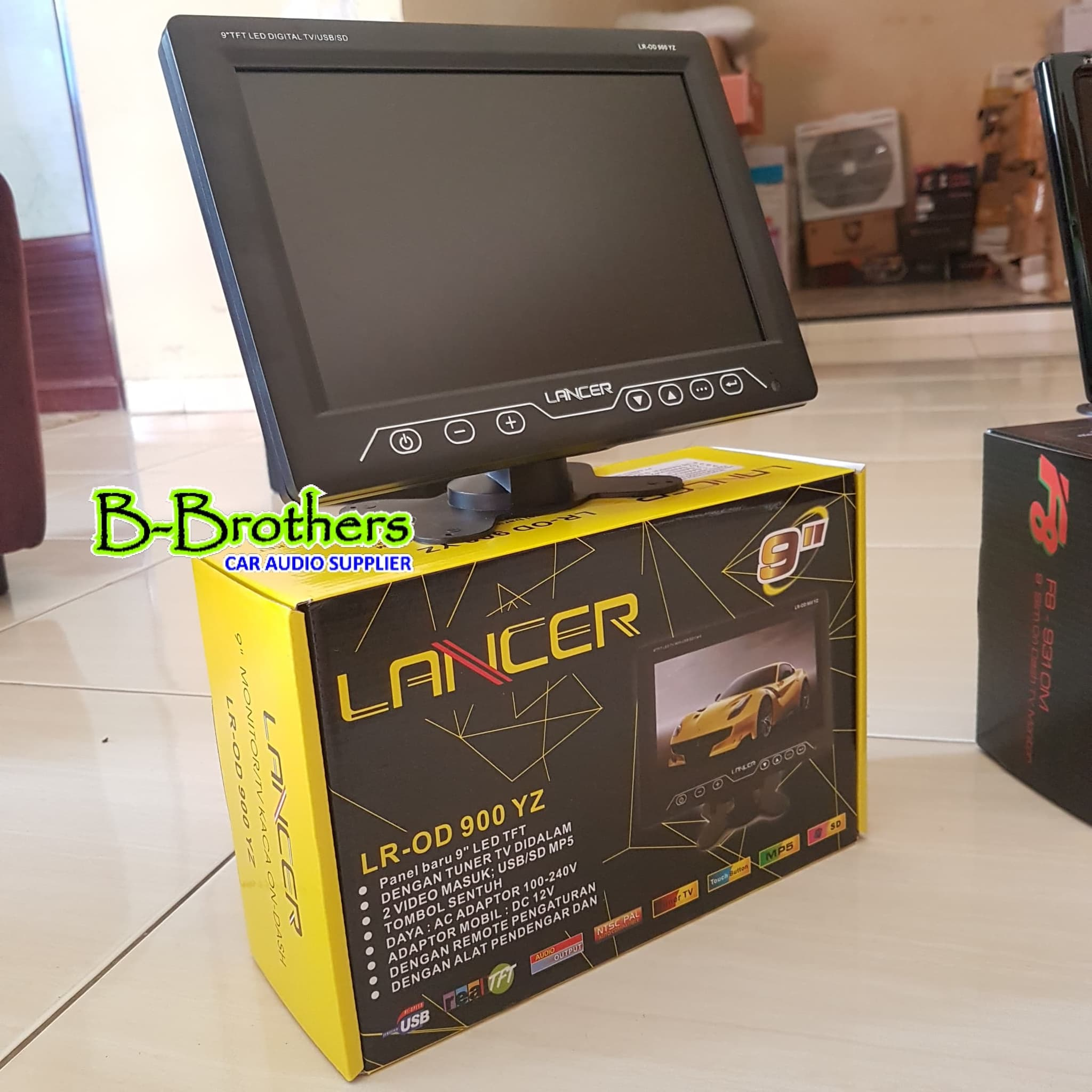 Jual Monitor 9 inch USB Mp4 Mp5 SD card & TV tunner Ondash