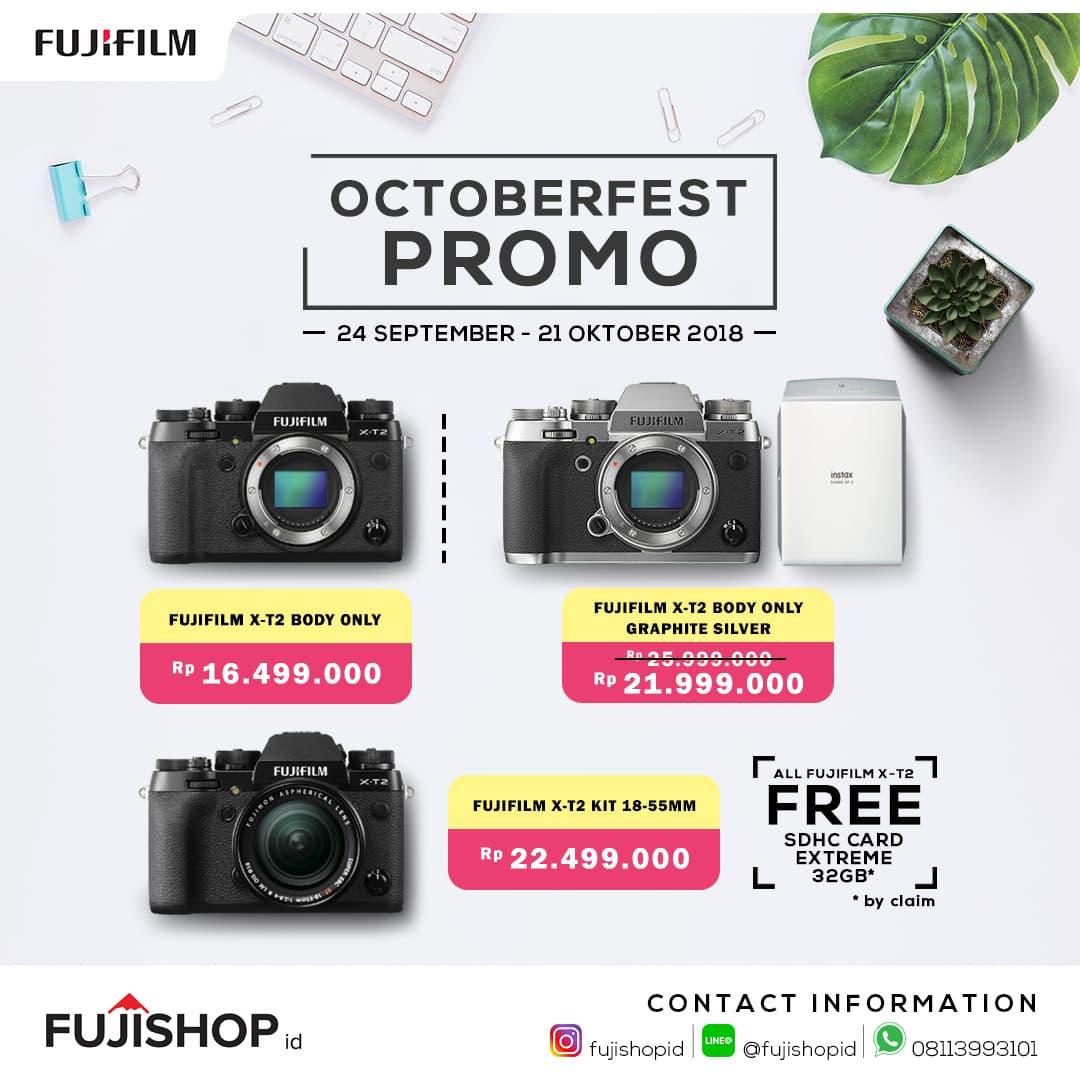 Jual Fujifilm Xt2 Body Only Fujishopid Tokopedia