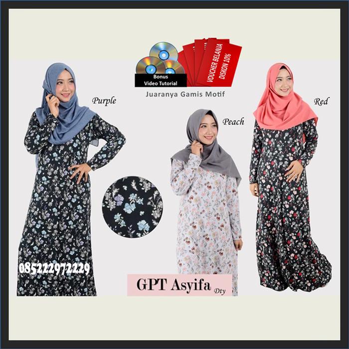 Jual Jual Gpt Asyfa Gamis Batik Kombinasi Brokat PREMIUM - Jual Baju ... 6478727882