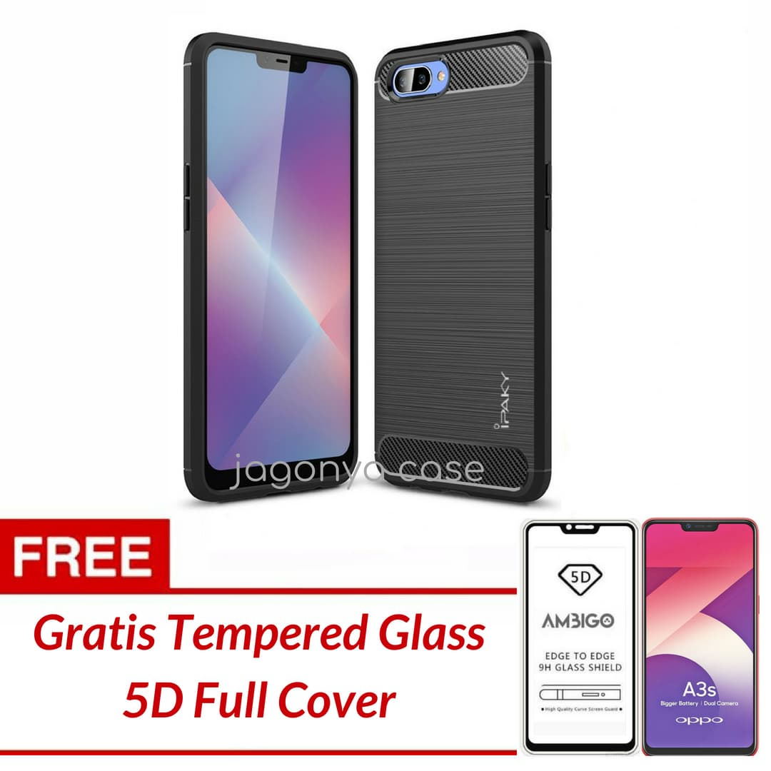 Peonia Carbon Shockproof Hybrid Premium Quality Grade A Case for Oppo A37 /. Source · Jual OPPO A3S Case Ipaky Carbon Soft Series GRATIS TEMPERED GLASS ...