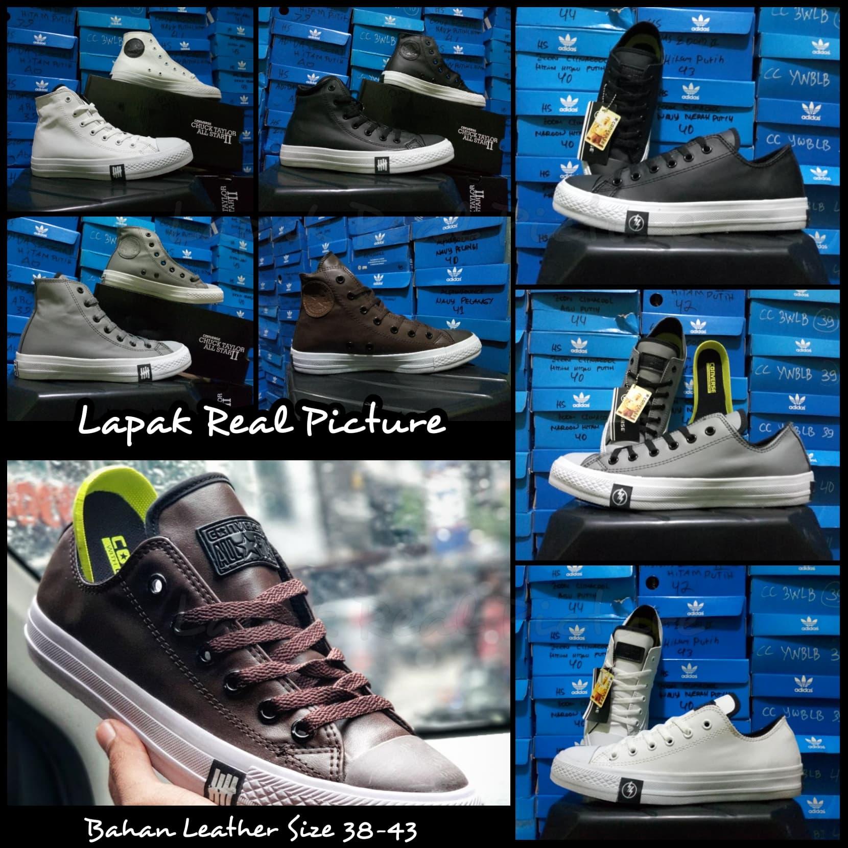 sepatu pria wanita converse allstar ct2 classic pendek kulit leather 7f20ad7dd3