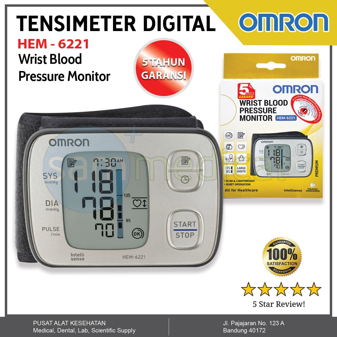 Jual Omron Hem 6221 Tensimeter Digital Tekanan Darah Super Tipis Wristband Sam Medical Tokopedia