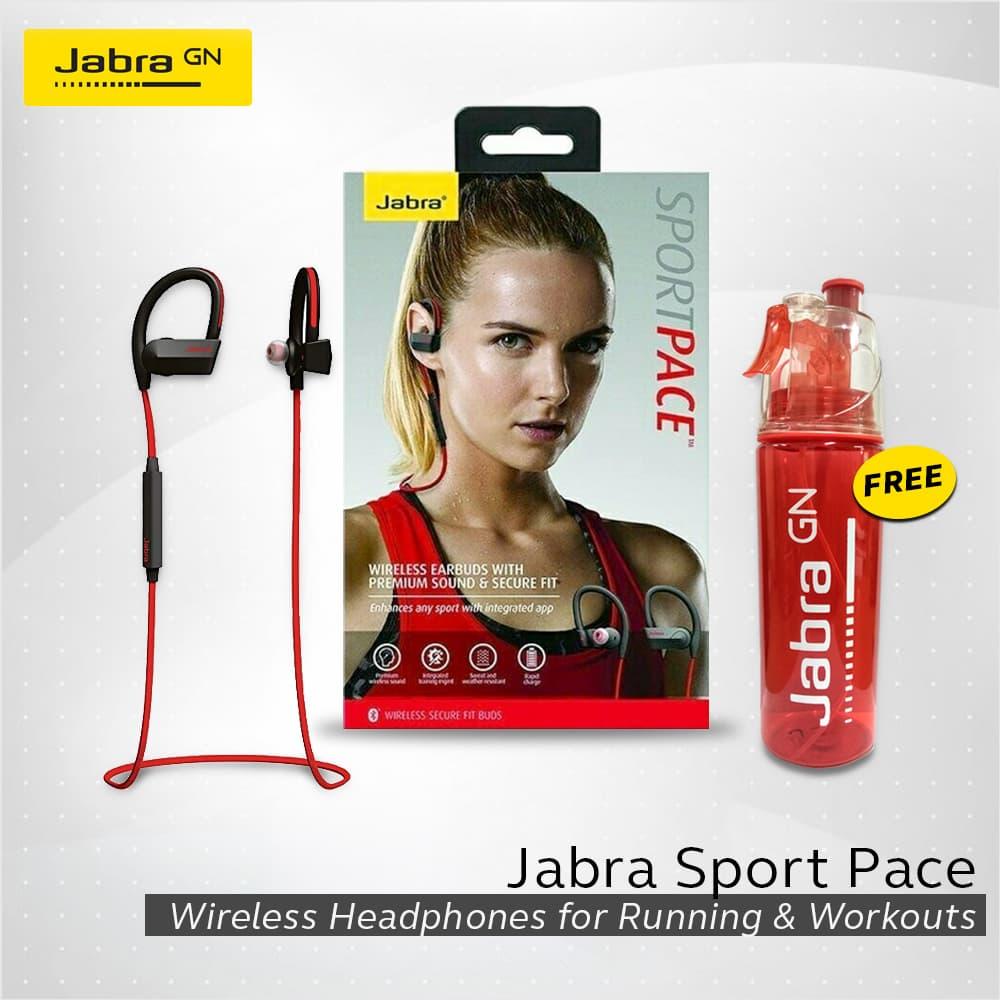 Jual Jabra Sport Pace Sound Bluetooth Bluet Headset Merah Wireless Earbuds Yellow Official Store Tokopedia