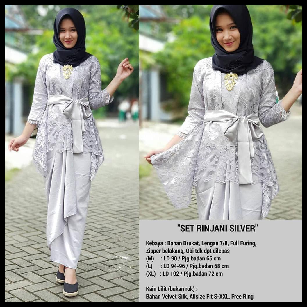 Jual Promo Kebaya Modern Hijab Remaja Style Brokat Aurora Dki
