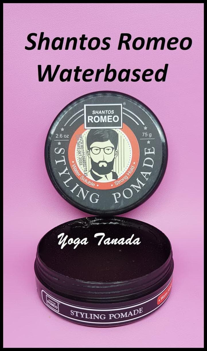 Jual KOMPLIT Pomade Shantos Romeo Styling Strong Waterbased ... 914ff5cf39